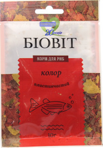 Корм Природа для риб Біовіт колор 10г х6