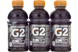Gatorade G2 Thirst Quencher Low Calorie Grape - 6 CT