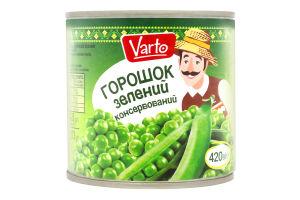 ВАРТО Горошок зелений консерви стерилiзованi 420г