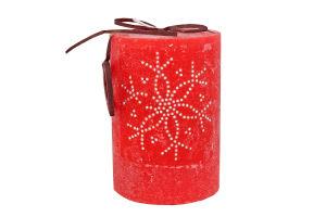 Свечка 7×10см 335г ярко-красная Фокстейл 1шт