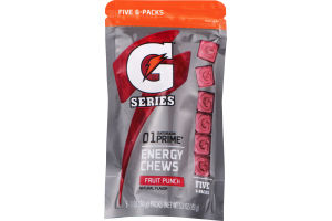 Gatorade G Series 01 Prime Energy Chews Fruit Punch 6-Packs - 5 CT