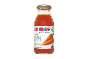 Сок для детей от 4мес морковный Hipp с/бут 0.2л