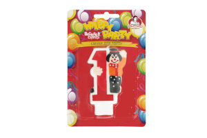 Свічка-цифра з клоуном №1 Happy Party Помічниця 1шт