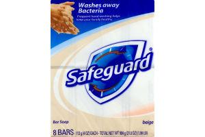 Safeguard Bar Soap Beige - 8 CT