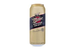 "Пиво світле ""Міллер Дженьюін Драфт"" (""Miller Genuine Draft"") 0,5 л"