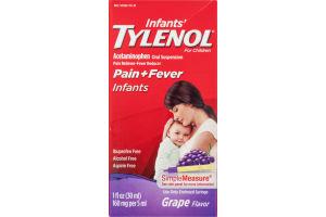 Infants' Tylenol Pain + Fever SimpleMeasure Liquid Grape