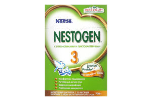 Смесь молочная сухая для детей от 12мес №3 Детское молочко с пребиотиками и лактобактериями Nestogen к/у 700г