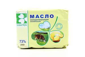 Масло 73% сладкосливочное Крестьянское Зеленая ферма м/у 200г