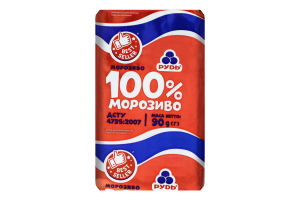 Мороженое 100% Рудь м/у 90г