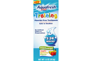 Aquafresh Training Natural Apple-Banana Flavor Fluoride-Free Toothpaste