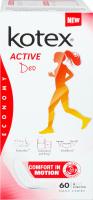 KOTEX прокладки щоденні Active Deo 60шт екстра тонкі