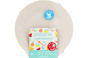Preserve Compostables Small Plates Natural 8 CT