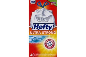Hefty Ultra Strong 13 Gallon Tall Kitchen Drawstring Bags Clean Burst - 40 CT