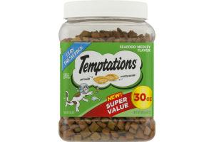 TEMPTATIONS Classic Treats for Cats Seafood Medley Flavor 30 Ounces