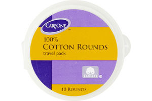CareOne 100% Cotton Rounds Travel Pack
