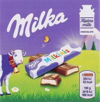 Шоколад молочний з молочною начинкою Milkinis Milka к/у 43.75г