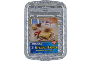 EZ Foil Broiler Pans - 3 CT