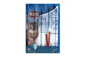 Лакомство для котов с лососем и форелью Stick Quintett Trixie м/у 5Х5г