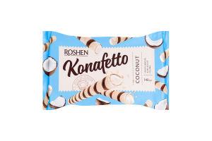 Трубочки вафельные с кокосовой начинкой Konafetto Roshen м/у 140г