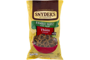 Snyder's of Hanover Pretzles Thins Family Size