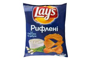Чіпси картопляні зі смаком сметани та цибулі Lays м/у 71г