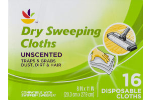 Ahold Dry Sweeping Cloths Unscented Disposable Cloths - 16 CT
