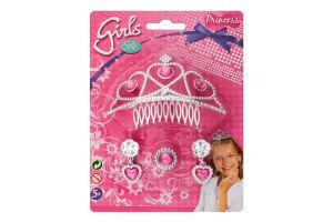Набір прикрас з сережками та каблучкою для дітей від 5рок №5560039 Тіара принцеси Simba 1шт