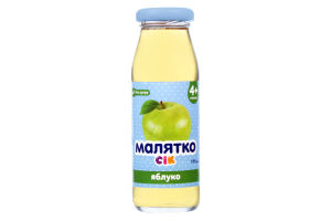 Сік яблуко 4+ місяців без цукру Малятко 175мл