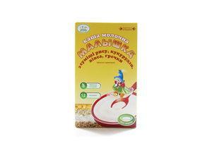 Каша молочная для детей от 5мес Из смеси риса, кукурузы, овса, гречки Малышка к/у 250г