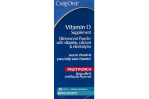 CareOne Vitamin D Supplement Packets Fruit Punch - 30 CT