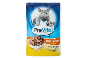 Пауч для котів з куркою в соусі PreVital 137989 100 г