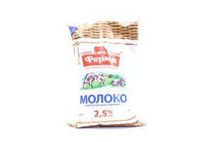 Молоко 2.5% пастеризованное Українське Ферма м/у 800г