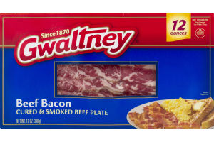 Gwaltney Cured & Smoked Beef Bacon