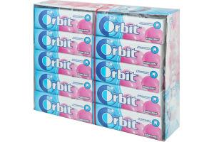 Резинка жевательная без сахара с фруктовым и мятным ароматом Bubblemint Orbit м/у 14г