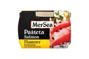 Паштет рибний MerSea 160 г скл. з лососем
