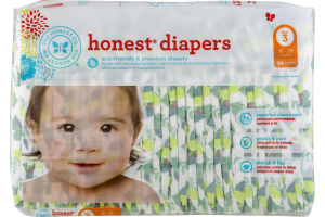 The Honest Co. Honest Diapers Tropical Frogs Size 3 - 34 CT