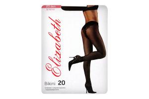 Колготки женские Elizabeth Bikini 20 nero р.2