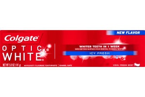 Colgate Optic White Anticavity Fluoride Toothpaste Icy Fresh