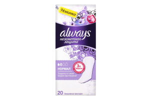 ALWAYS Ежедневные гигиенические прокладки ароматизированные Незаметная защита Нормал Duo 20шт