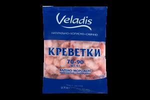 Креветки нерозібрані глазуровані 70/90 Veladis в/м м/у 1000г