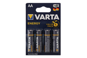 Батарейка AA 1.5V LR6 №4106 Varta 4шт