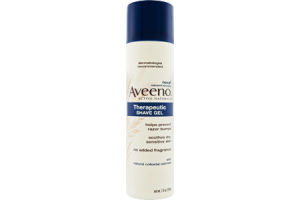 Aveeno Active Naturals Therapeutic No Added Fragrance Shave Gel