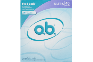 o.b. Tampons Ultra - 40 CT