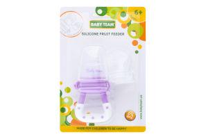 Контейнер для прикорму для дітей від 6міс силіконовий Fruit Feeder Baby Team 1шт