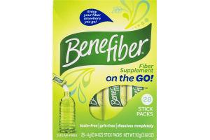 Benefiber Fiber Supplement On the Go! Stick Packs - 28 CT