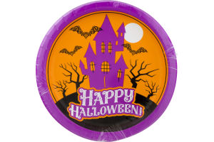 Smart Living Halloween Dinner Paper Plates Boho Haunted House - 8 CT
