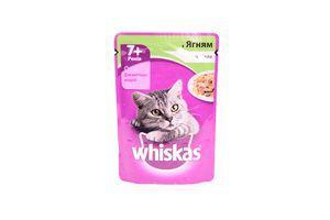 Корм для взрослых котов с ягненком в желе Whiskas д/п 100г