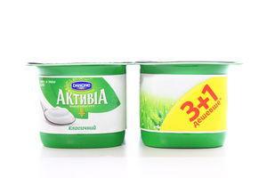 Біфідойогурт Danone Активіа Класичний 2,4% 4*140г х6