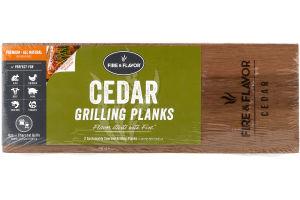 Fire & Flavore Grilling Planks Cedar - 2 CT
