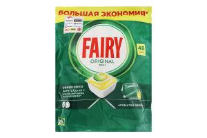Засіб для миття посуду в посудомийних машинах в капсулах Лимон Все в 1 Original Fairy 48шт